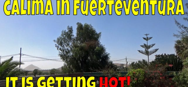 Fuerteventura Calima – so it is very hot today!