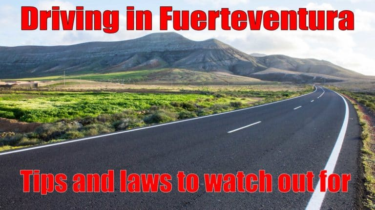 Driving in Fuerteventura