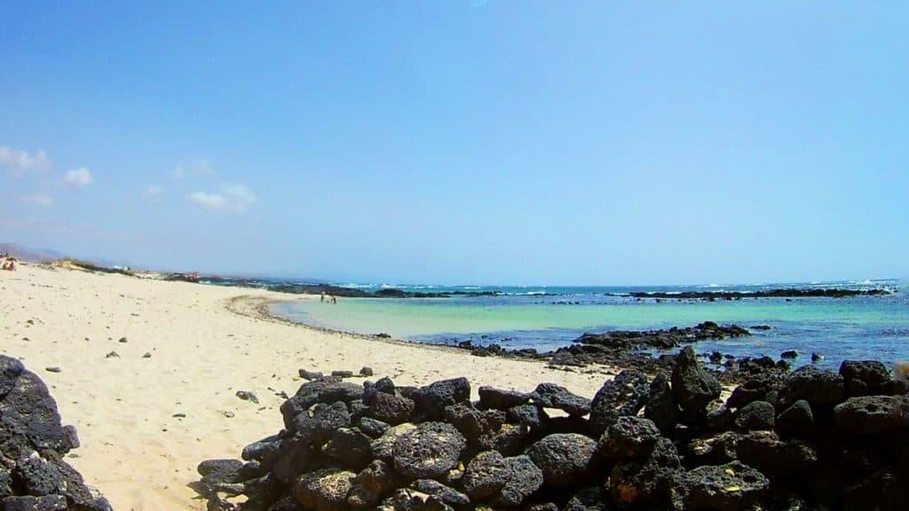 El Cotillo Lagoons. Naturist beaches in Fuerteventura. Naturism in Fuerteventura.